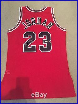 1d01b9ba43d Michael Jordan Signed Jersey Game Issued Pro Cut 1996-97 Champion UDA Gold  Logo