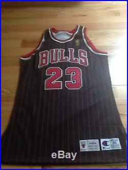 Michael Jordan UDA Upper Deck Signed Autograph Champion Game Issued Jersey GOLD