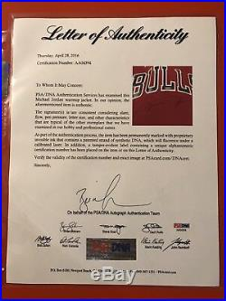 Michael Jordan signed 1987 Original Game Issue Bulls SHOOTING SHIRT & Pants UDA