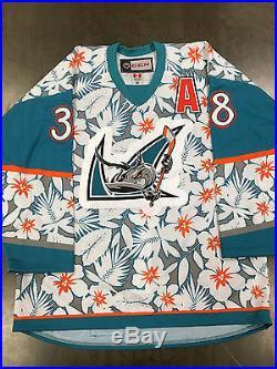 Micheal Haley Game Issued San Jose Barracuda Hawaiian Shirt Jersey