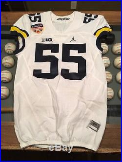 Michigan Game Worn Orange Bowl Jersey Used Issued Jordan Jumpman Nike Football