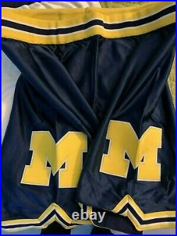 Michigan Team Issued Jerseys/Shorts Fab Five Russell Maize Navy White Game Worn