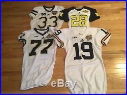 Michigan Wolverines Bowl Jersey Collection 1986-2020 Team Issued, Game Worn/Used