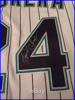 Miguel Cabrera Game Used Signed Florida Marlins Jersey Issued Worn