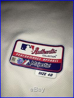 Mike Moustakas Game Used 2015 Jersey Royals Playoff Issued Mlb Coa World Series