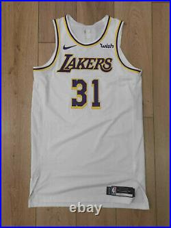 Mike Muscala Lakers game worn jersey 50 +6 2018/19 team issued pro cut