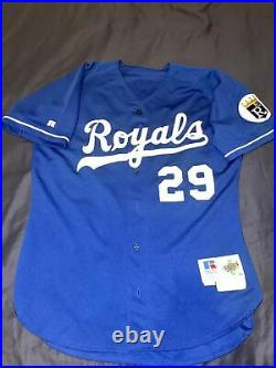 Mike Sweeney Kansas City Royals Game Issued Autographed Russell Jersey Size 48