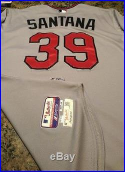 Minnesota Twins 2015 Danny Santana game used issued road jersey mlb authentic