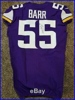 Minnesota Vikings 2018 Nike Game issued Jersey Captain Patch Anthony Barr coa