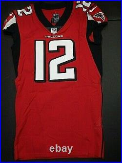 Mohamed Sanu Atlanta Falcons White Game Issued / Used 2017 Nike Jersey LOA-FTA