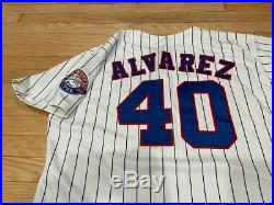 Montreal Expos Game Issued Jersey Alvarez ANNIVERSARY PATCH 1993