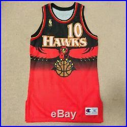 Mookie Blaylock Atlanta Hawks Champion Jersey Game Issued Size 42 L +3 Full Set