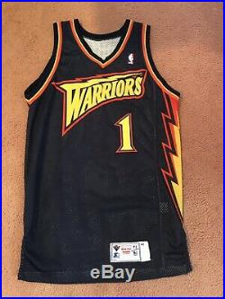 san francisco 585c1 57f99 Muggsy Bogues 1999-00 Golden State Warriors Game Used Issued ...