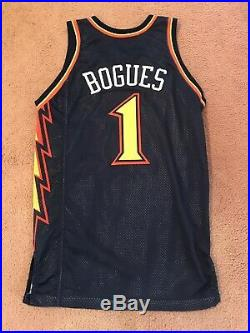 Muggsy Bogues 1999-00 Golden State Warriors Game Used Issued Pro Cut Jersey NBA