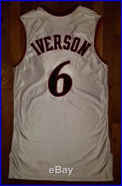 NBA All Star 2002 Allen Iverson Game Issued Jersey 44+4 authentic pro cut Reebok