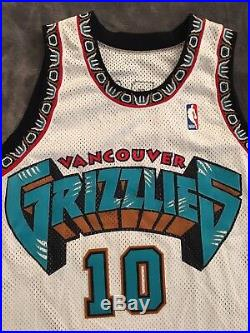 NBA Jersey Champion Game Issued Mike Bibby Jersey Vancouver Grizzlies Jersey