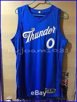 NBA Westbrook Thunder MVP Xmas Game Authentic Pro Cut Team Issued Jersey