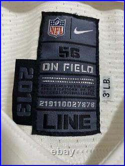 NFL NEW ORLEANS SAINTS NIKE PRO CUT TEAM ISSUED BLANK LINE 2013 Game JERSEY 56