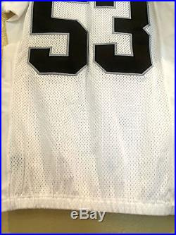 Nick Roach #53 Oakland Raiders Game Team Issue Jersey Nike Chicago Bears