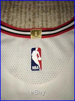 NIKE Chicago Bulls NBA Authentic Game Worn Team Issued Used Blank Jersey 46