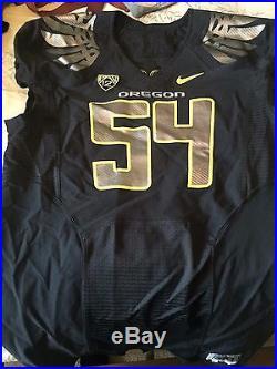 Nike Oregon Ducks Football Game Worn #54 Black Mens Sz 48 Team Issued Jersey L S