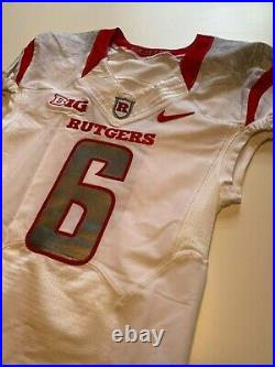 NIKE Rutgers Football Game Worn Issued Jersey Big Ten NCAA F. A. M. I. L. Y