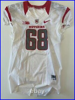 NIKE Rutgers Football Game Worn Issued Jersey Big Ten NCAA F. A. M. I. L. Y. Size 46