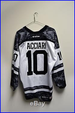 Noel Acciari Providence Bruins Military Game Issued Jersey