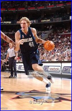 NOWITZKI 2001 Dallas Mavericks game issued Nike pro cut authentic jersey 54+4
