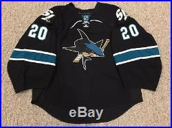 huge selection of 2279f c68bd Nabokov San Jose Sharks Goalie Cut Jersey Game Issued 58G ...