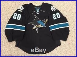 Nabokov San Jose Sharks Goalie Cut Jersey Game Issued 58G Reebok Edge 2.0 NHL