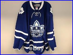 New! Blue Reebok Toronto Marlies Ahl Pro Stock Hockey Player Game Issued Jersey
