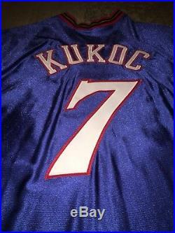 New Champion Game Issued NBA Toni Kukoc Philadelphia 76ers Jersey Sz 50+4 Length