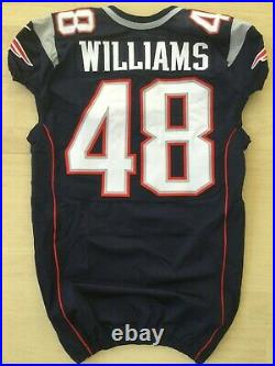 New England Patriots Game worn/used team issued jersey #48 WILLIAMS