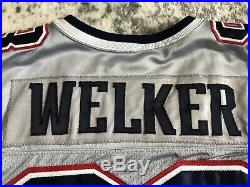 New England Patriots Welker Game Issued 2007 Alternate Silver Jersey #83