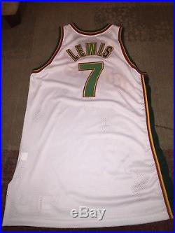 New Nike Game Issued Rashard Lewis Seattle Supersonics Jersey Sz 48+4 Length