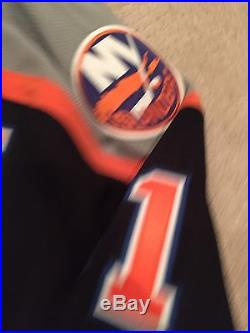 New York Islanders Signed Jersey Game Issued Frans Nielsen Reebok Edge Size 56