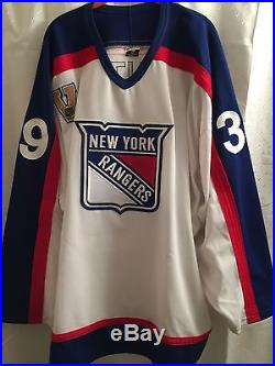 New York Rangers Dan LaCouture sz. 58 Game Worn/Issued NHL Vintage Third Jersey
