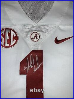 Nick Saban Autographed ALABAMA Game Issued Used JERSEY PROOF Sugar Bowl Patch
