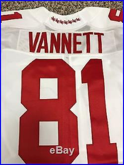 Nick Vannett Game Issued Not Worn Ohio State Football Jersey Seattle Seahawks