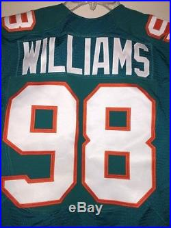 Nick Williams #98 Miami Dolphins Game Issued Jersey 2015 Throwback