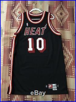 Nike 1997-98 Tim Hardaway Miami Heat Game Issued Pro Cut Jersey James Wade Bosh