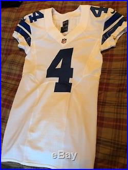 Nike Dallas Cowboys Game Issued Jersey 4 Dak Prescott