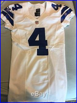 Nike Dallas Cowboys Game Issued Jersey 4 Prescott