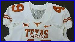 Nike Game Issued Authentic Texas Longhorns UT Football Jersey White Away #49