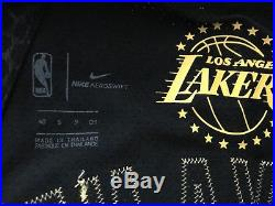 Nike Lakers Kobe Bryant Black City Authentic Jersey 40 Small Pro Cut Game Issued