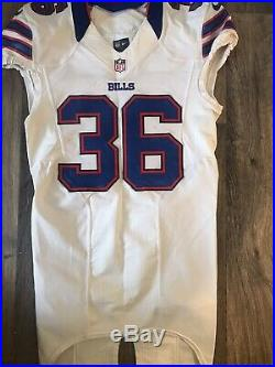 Nike NFL Buffalo Bills Game Worn Used Issued Delano Howell Jersey #36