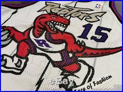 Nike Nba Toronto Raptors 1998-1999 Vince Carter Game Issued Pro Cut Jersey 50+4