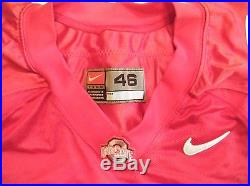 Nike Ohio State Buckeyes #40 Team Issue Football Jersey Sz. 46 Game Worn RB Used