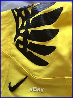 Nike Oregon Ducks Game Worn Issued Jersey size 46 Volt yellow Black Wings Ebert